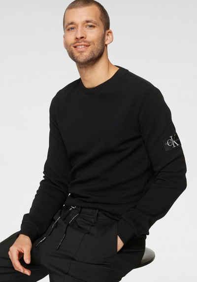 Calvin Klein Jeans Langarmshirt »MONOGRAM BADGE WAFFLE LS TEE«