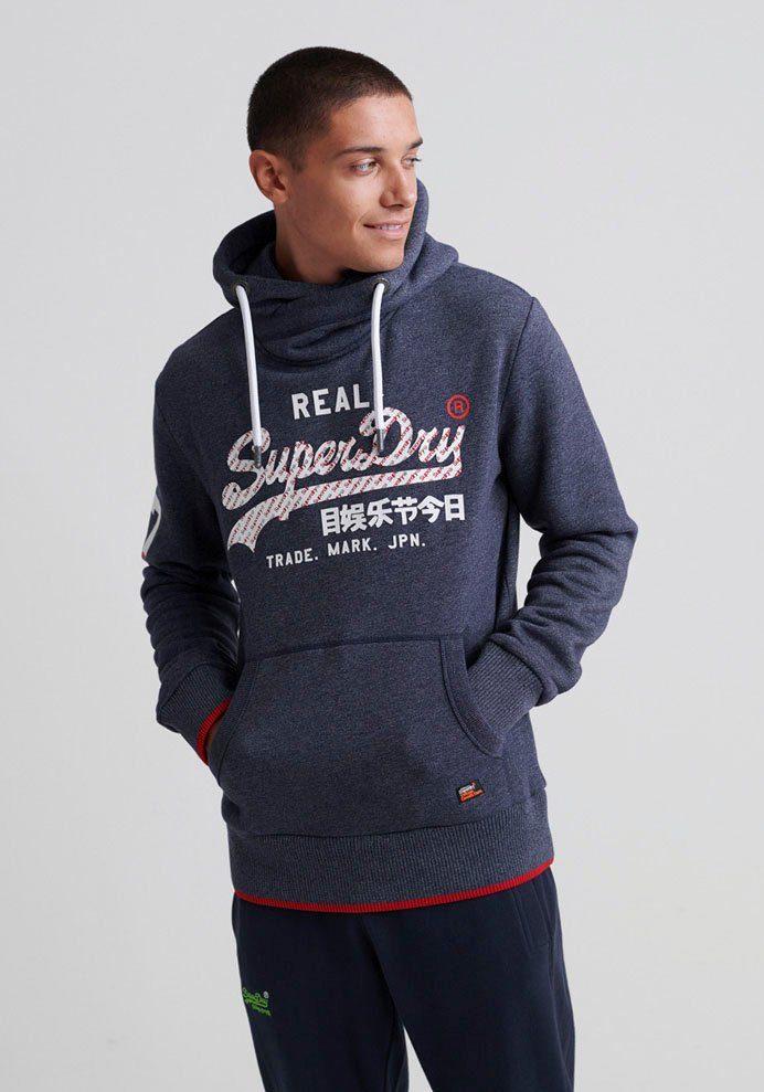 Orange Label Sweat Schiefer-Blau Grau Superdry Trainingsanzug Oberteil