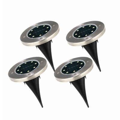 EASYmaxx Dekolicht, (4er Set), Solar Bodenleuchten
