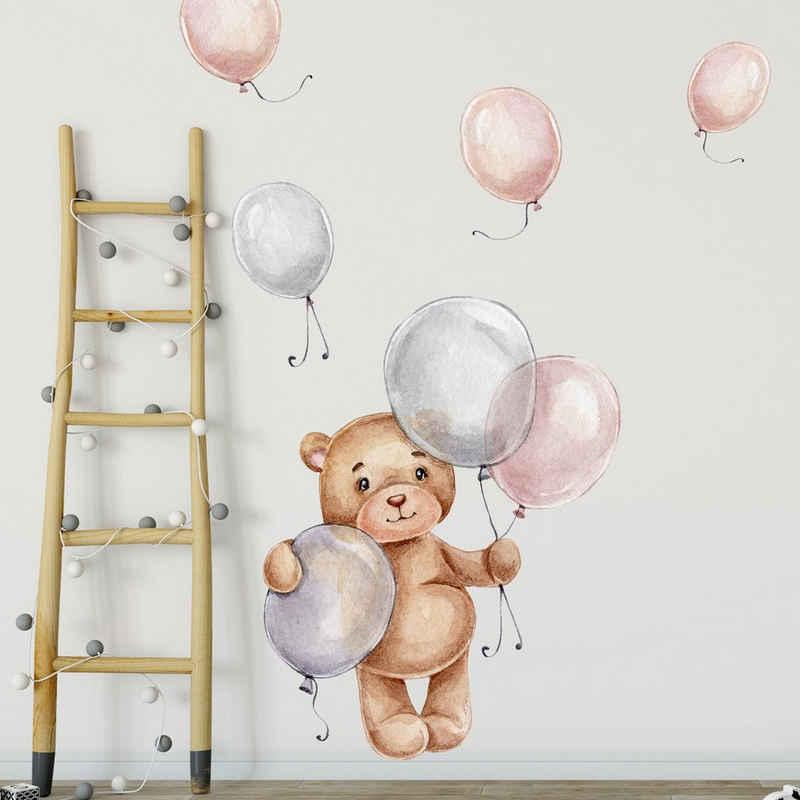 WANDKIND Wandtattoo »Bär mit Ballons V271«, selbstklebend