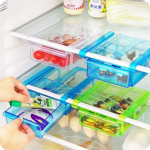 GIMEX Hängeschublade »Kühlschrank Organizer extra Schubfach Klemm-Schublade 2er Set 20,5 x 15,5 cm« (2 Stück)