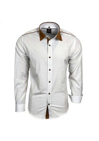 Rusty Neal Freizeit-Hemd su farblich abgesetztem ...