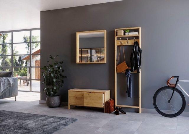 Garderoben Sets - Home affaire Garderoben Set »Livana«, (Set, 2 tlg), aus Massivholz  - Onlineshop OTTO