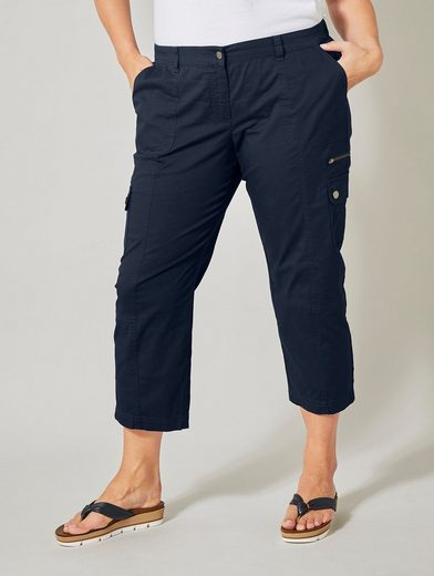 Janet & Joyce by Happy Size 7/8 Cargo-Hose mit Paper-Touch