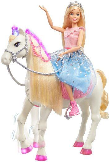 Mattel® Anziehpuppe »Barbie Prinzessinnen Abenteuer Tanzendes Pferd«, mit Licht und Sound