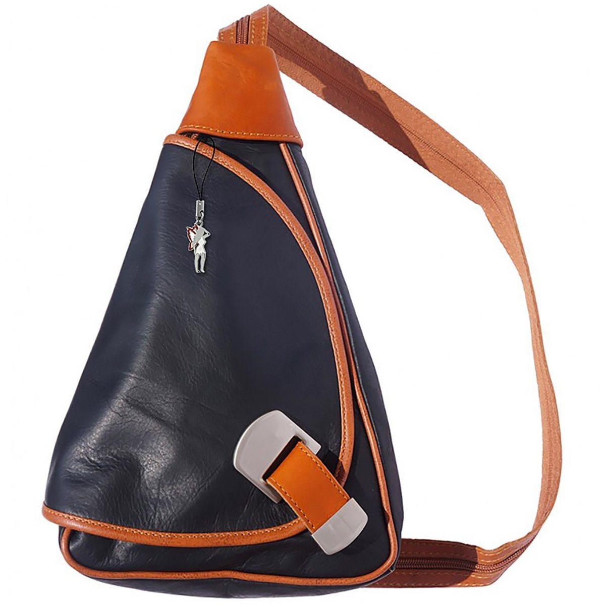 florence -  Cityrucksack »OTF600X  Damen Rucksack Schultertasche«, Damen Rucksack, Tasche, Echtleder schwarz, braun
