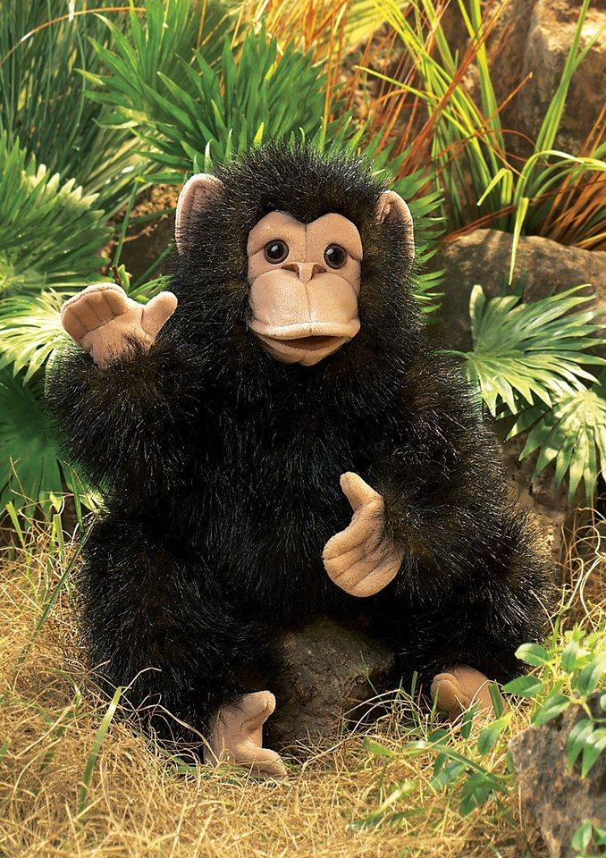 FOLKMANIS® Handpuppe »Schimpansenbaby« in schwarz