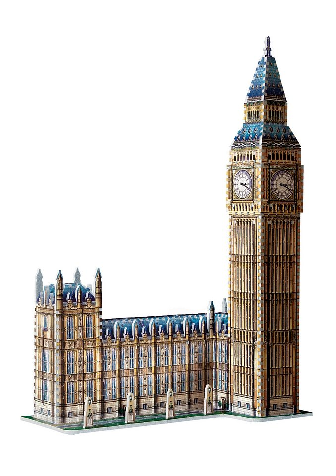 Wrebbit™ 3D-Puzzle »Big Ben + House of Parlament«, 890 Teile
