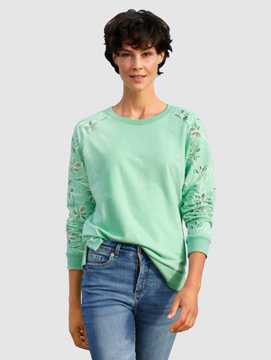 Dress In Sweatshirt mit bedrucktem Raglanarm