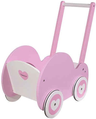 Kindsgut Puppenwagen, Puppen-Möbel, Holz-Spielzeug, unisex, Motorik, Lauflern-Hilfe für Kinder ab 12 Monaten, umweltfreundlich