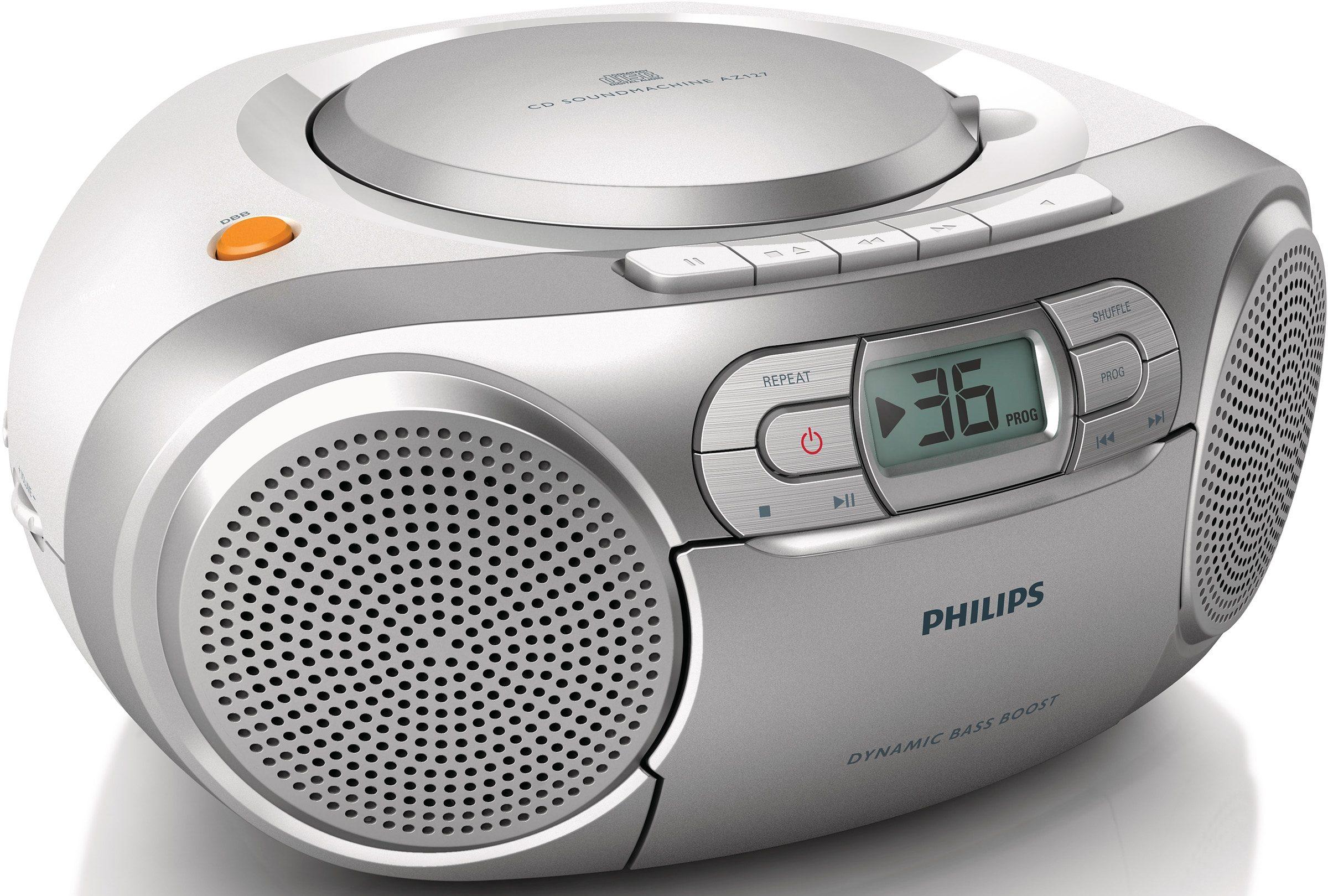 Philips AZ127/12 CD-Soundmachine, Radio, Kassettenplayer