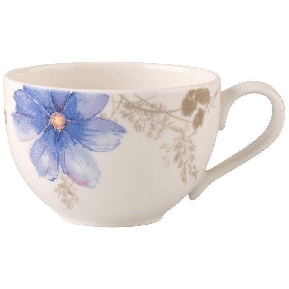 VILLEROY & BOCH Kaffeeobertasse »Mariefleur Gris Basic« in Dekoriert