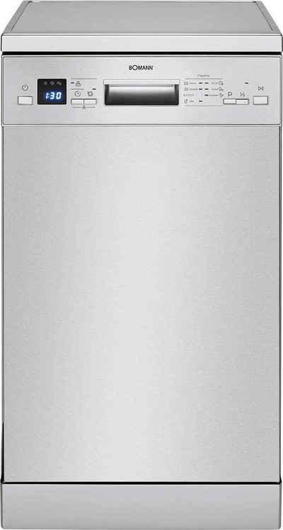 BOMANN Standgeschirrspüler, GSP 7411 IX, 9 l, 9 Maßgedecke