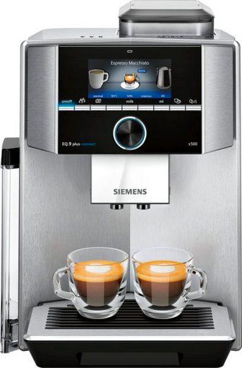 SIEMENS Kaffeevollautomat EQ.9 plus connect s500 TI9558X1DE, extra leise, automatische Reinigung, bis zu 10 individuelle Profile
