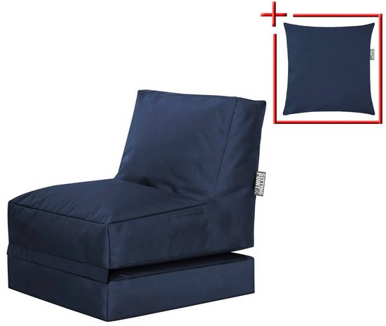 Magma Heimtex Sitzsack »SCUBA Twist« (Set), klappbarer SITTING POINT mit Kissen, für Indoor und Outdoor