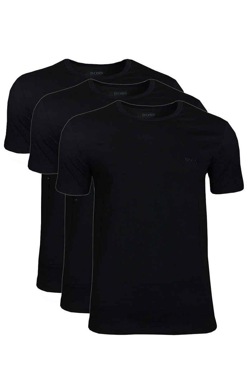 Boss Kurzarmshirt »RN T-Shirt Crew Neck Unterziehshirt« (Dreierpack, 3-tlg., 3er-Pack) mit Logo-Stickerei