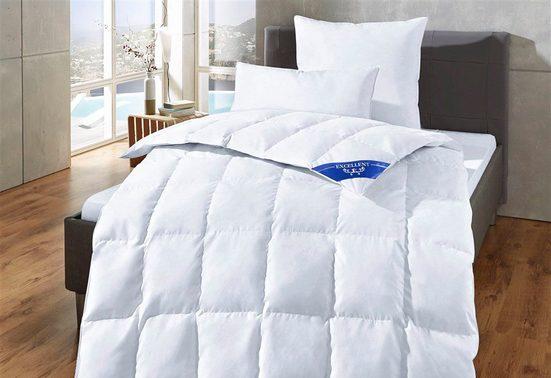 Daunenbettdecke, »Komfort«, Excellent, Füllung: 60% Daunen, 40% Federn, Bezug: 100% Baumwolle, Schlafkomfort fürs ganze Jahr!