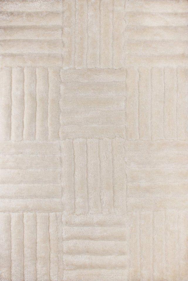 Hochflor-Teppich, Lalee, »olymp 551«, Konturenschnitt in crème