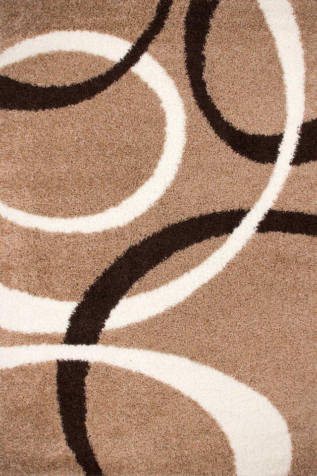 Hochflor-Teppich, Lalee, »Joy 119«, Höhe ca. 40mm, gewebt in beige