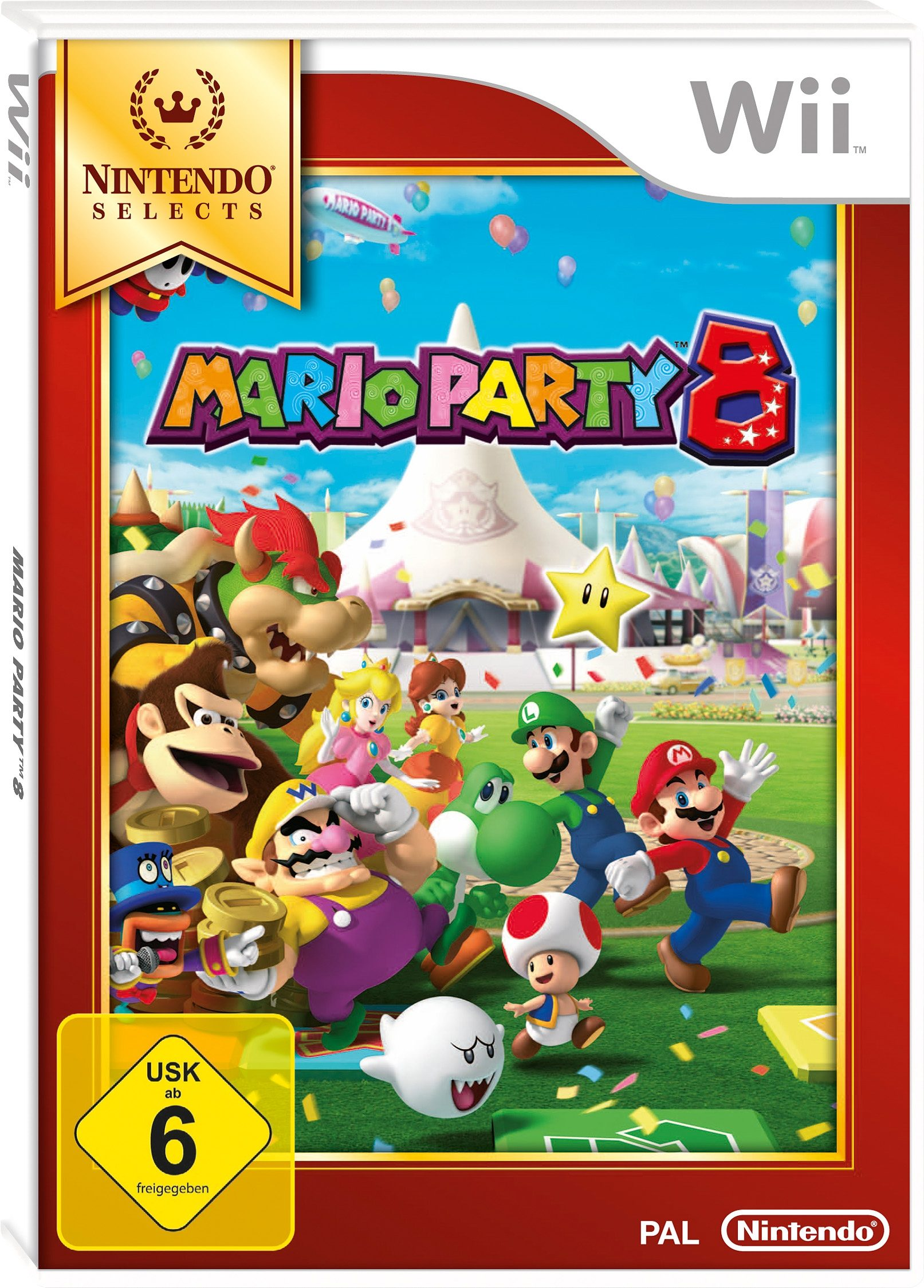 Wii-Spiel »Selects Mario Party 8«