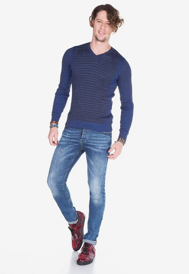 cipo & baxx -  Bequeme Jeans im coolen Used-Look