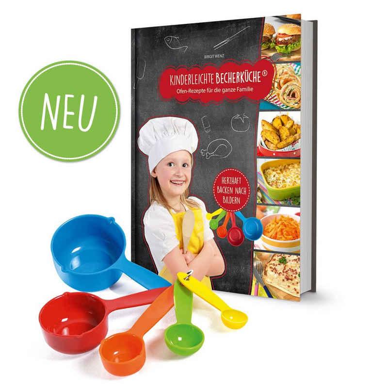 Kinderleichte Becherküche Backform, (5er Set Messbecher), Rezeptbuch 3