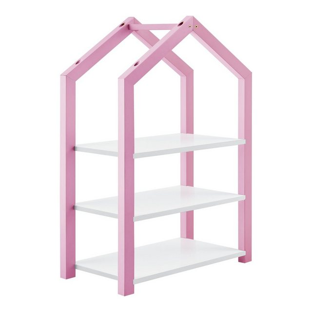 Regale - en.casa Bücherregal, »Mayen« Kinderregal Haus Optik Spielzeugregal mit 3 Ablagen in verschiedenen Farben  - Onlineshop OTTO
