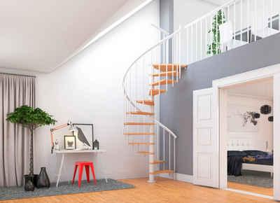 Dolle Spindeltreppe »Montreal«, für Geschosshöhen bis 282 cm, Stufen offen, Ø: 140 cm