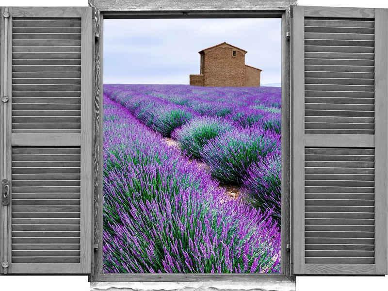 queence Wandtattoo »Lavendelfeld« (1 Stück)