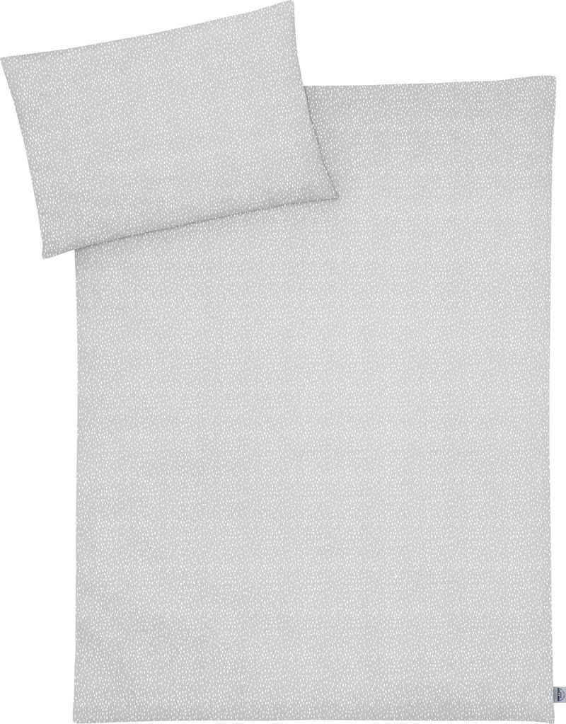 Kinderbettwäsche »Tiny Squares Grey«, Julius Zöllner, mit Muster