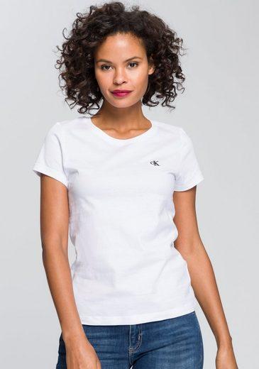 Calvin Klein Jeans T-Shirt »CK EMBROIDERY SLIM TEE« mit gesticktem CK Logo auf der Brust