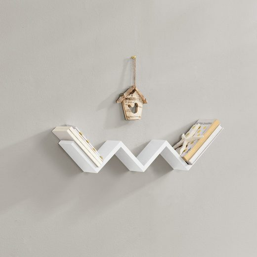 casa.pro Wandregal, »Greiz« Hängeregal Wandboard in verschiedenen Modellen und Farben