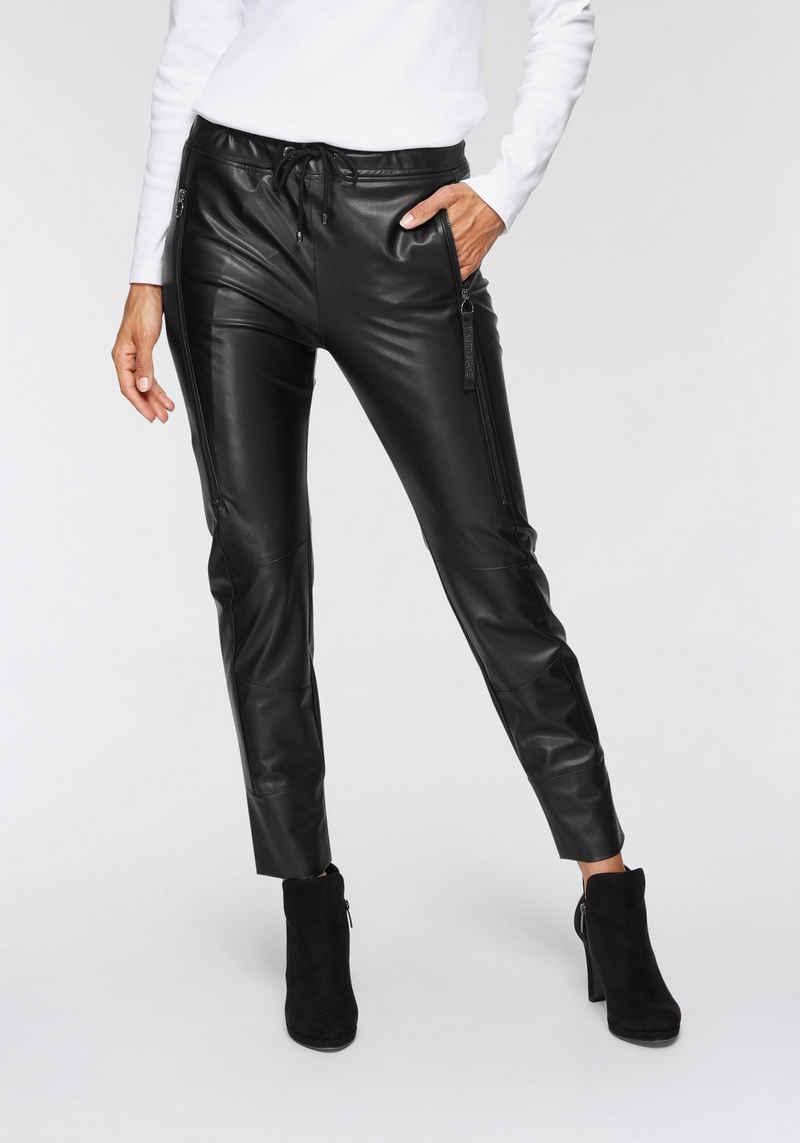 MAC Jogger Pants »Future-Leather« Große Taschen an beiden Beinen