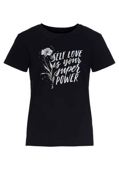 Mavi T-Shirt »SELF LOVE PRINTED TOP« mit coolem Frontdruck