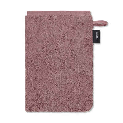 Joop! Handtuch »Waschhandschuh Classic Doubleface 1600 83 Rose« (1-St), Wendeoptik, Logo, Flauschig
