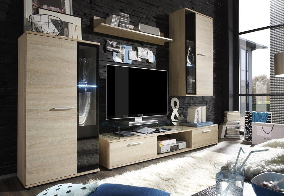 Wohnwand modern braun  Wohnwand kaufen » Schrankwand & Anbauwand | OTTO