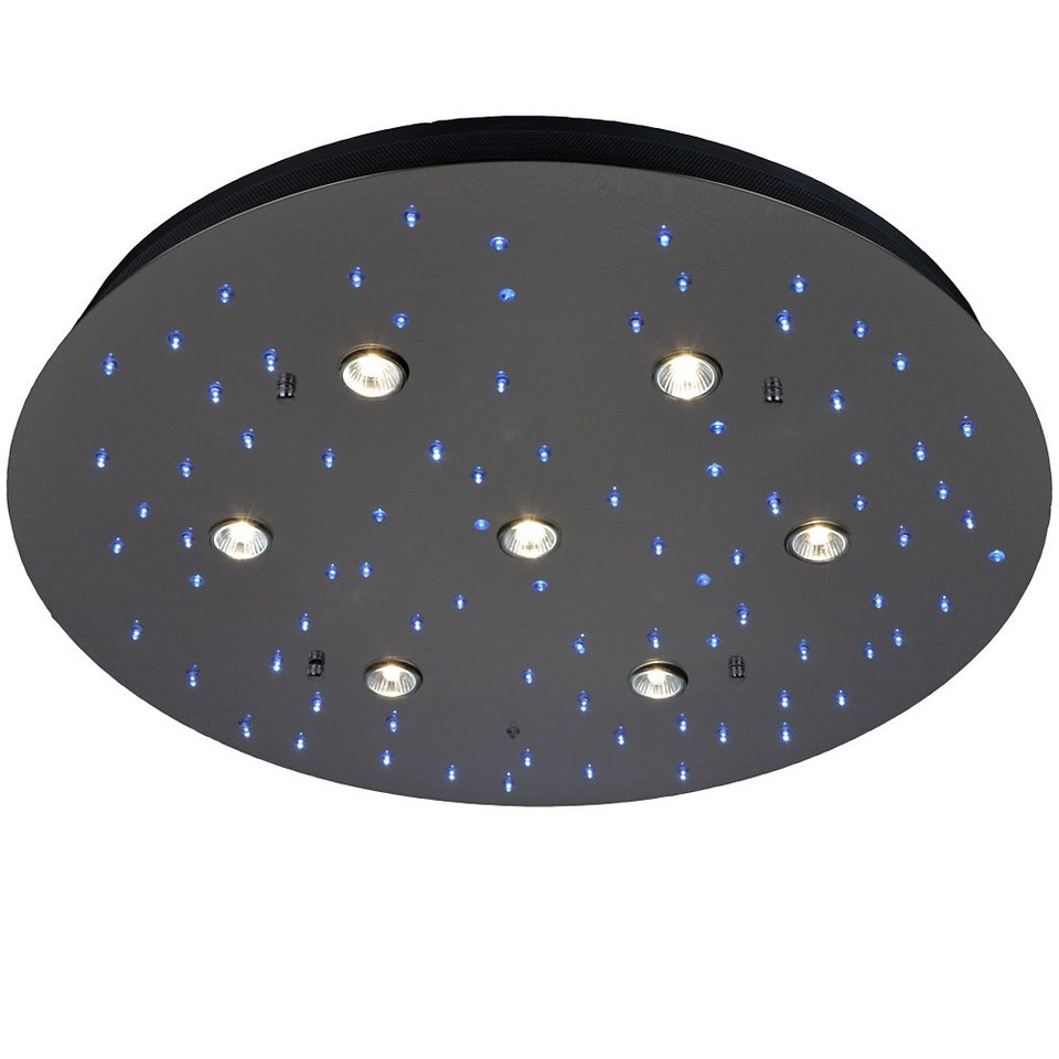 S luce deckenleuchte led halogen mit fernbedienung star for Deckenleuchte mit fernbedienung