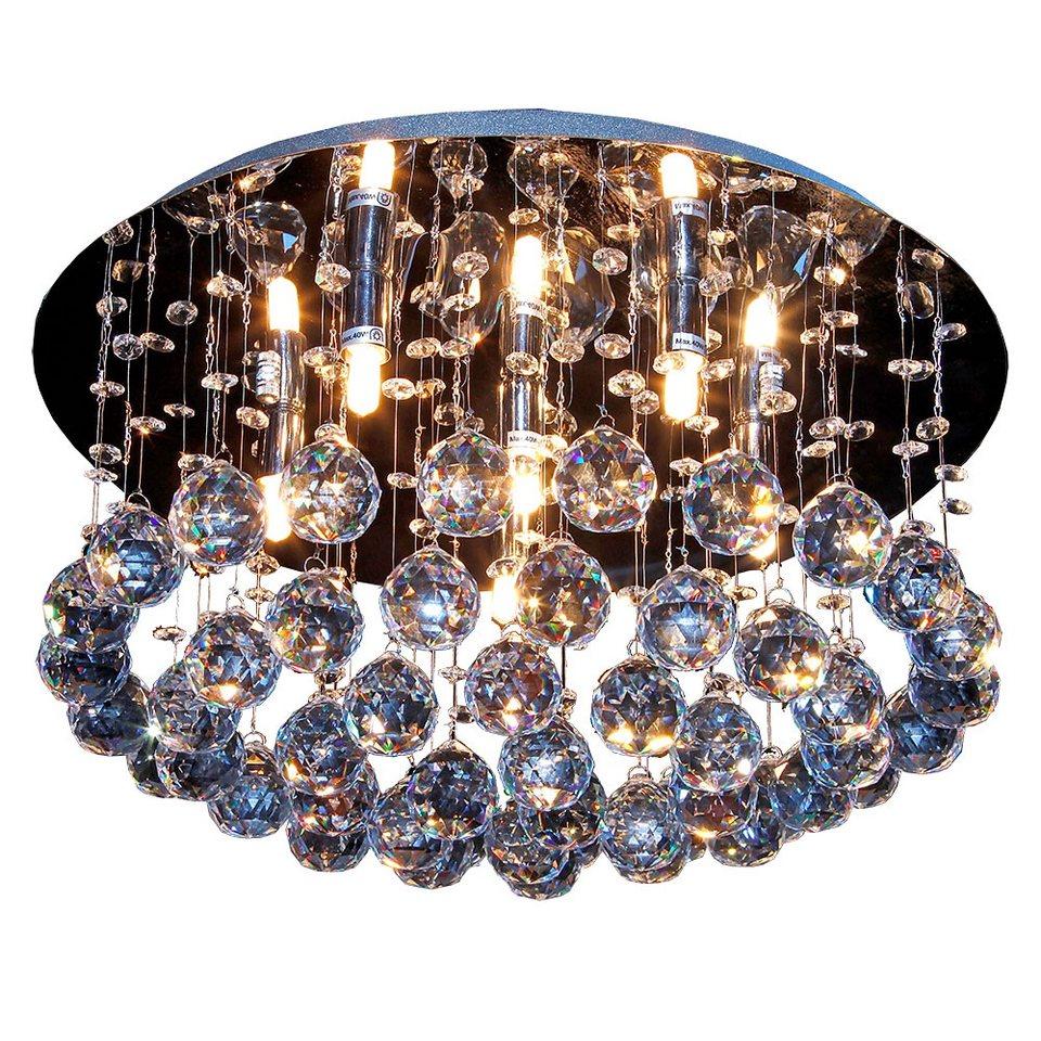 s luce kristall deckenleuchte mit ca 200 glaskristallen. Black Bedroom Furniture Sets. Home Design Ideas