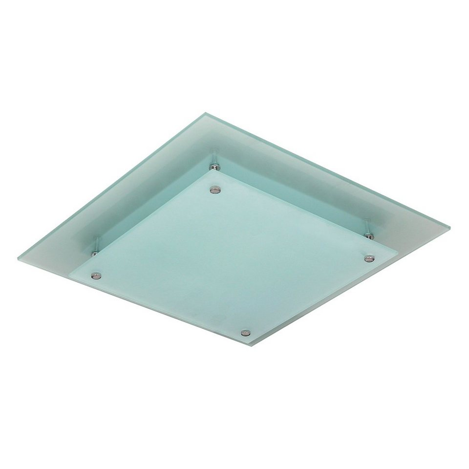 s luce deckenleuchte mit satinierter glasscheibe exos 40x40cm online kaufen otto. Black Bedroom Furniture Sets. Home Design Ideas