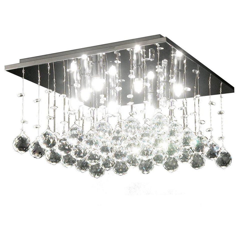 s luce kristall deckenleuchte mit ca 108 glaskristallen blaze 8 flammig 40x40cm online kaufen. Black Bedroom Furniture Sets. Home Design Ideas