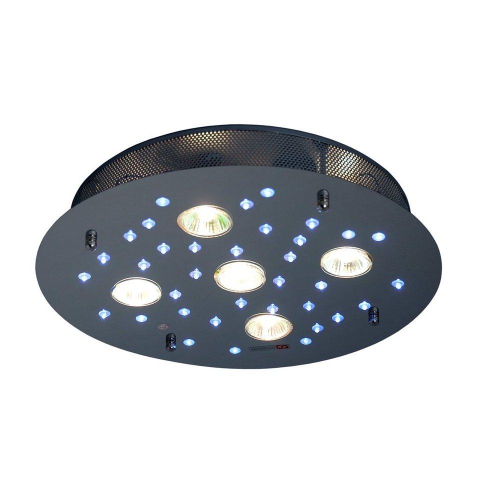 s luce deckenleuchte led halogen mit fernbedienung star 40 chrom online kaufen otto. Black Bedroom Furniture Sets. Home Design Ideas
