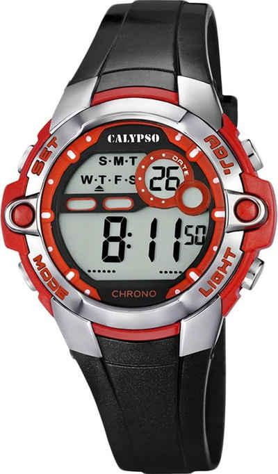 CALYPSO WATCHES Digitaluhr »UK5617/5 Calypso Unisex Uhr K5617/5 Kunststoffband«, (Digitaluhr), Damen, Herren Armbanduhr rund, PURarmband schwarz, Sport