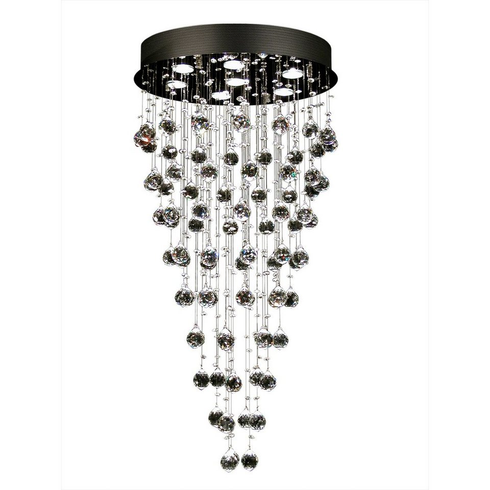 S`luce Kristall Hängeleuchte Mit Ca. 250 Glaskristallen »BLAZE 7 Flammig