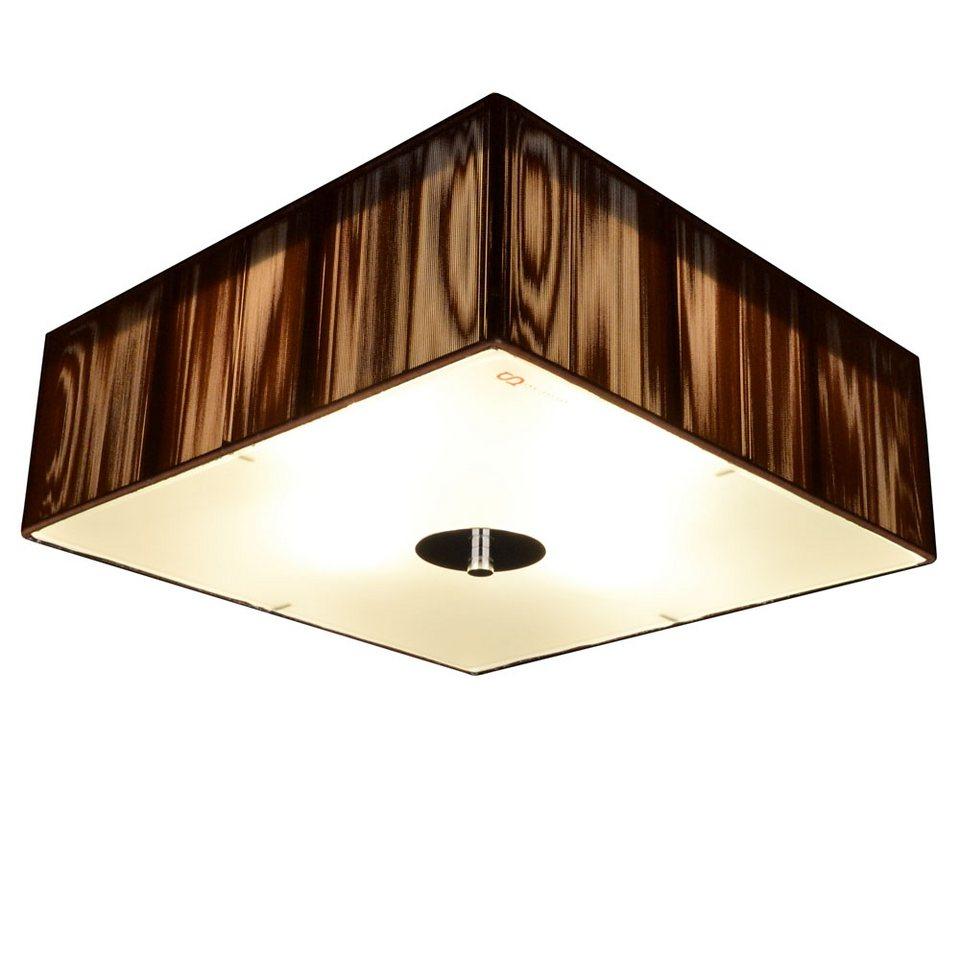 S luce deckenleuchte stoff twine black 35x35 4xe27 for Stoff deckenleuchte