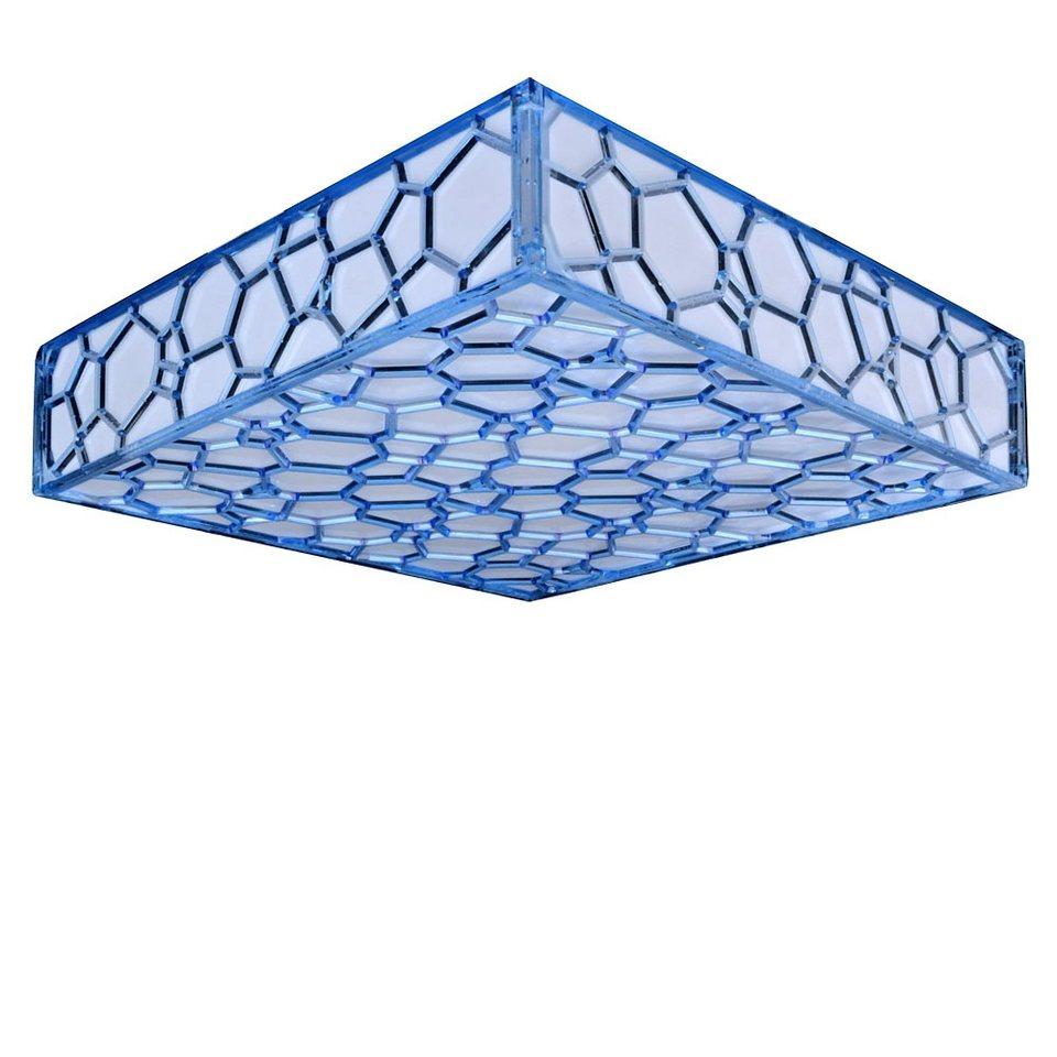 s luce deckenlampe mit wabenmuster cluster 3 flammig 45x45 blau online kaufen otto. Black Bedroom Furniture Sets. Home Design Ideas