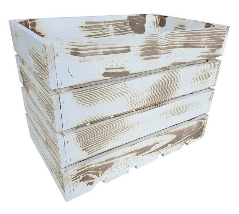 sunnypillow Holzkiste »Holzkisten in vielen Farben zur Auswahl«, Einzelkiste 25x40x30cm