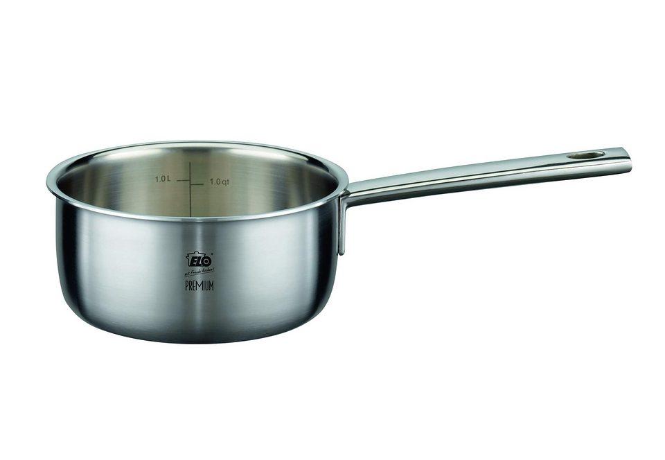 Stielkasserolle, ELO Premium, »MULTILAYER«, aus hochwertigem Edelstahl 3-lagig (18/8 - Alu - 18/0)