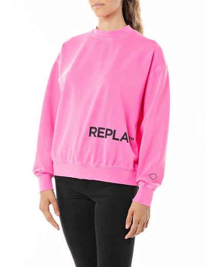 Replay Sweatshirt mit lässig überschnittenen Schultern