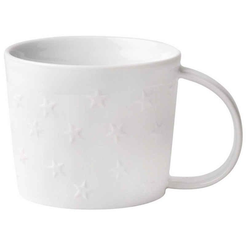 Räder Design Tasse »Dining Weihnachtliche Tasse«, Porzellan, Tasse mit Sternen aus Porzellan