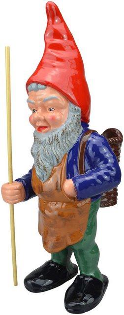 HEISSNER Gartenzwerg »Waldfried, der Sammler«, Höhe: 35 cm | Garten > Dekoration > Gartenzwerge | Heissner